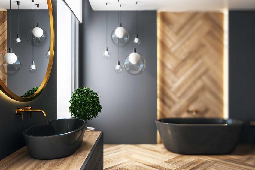 Czarna łazienka w nowoczesnym stylu, czyli TOP 4 aranżacje łazienek, modne i nowoczesne wyposażenie łazienek