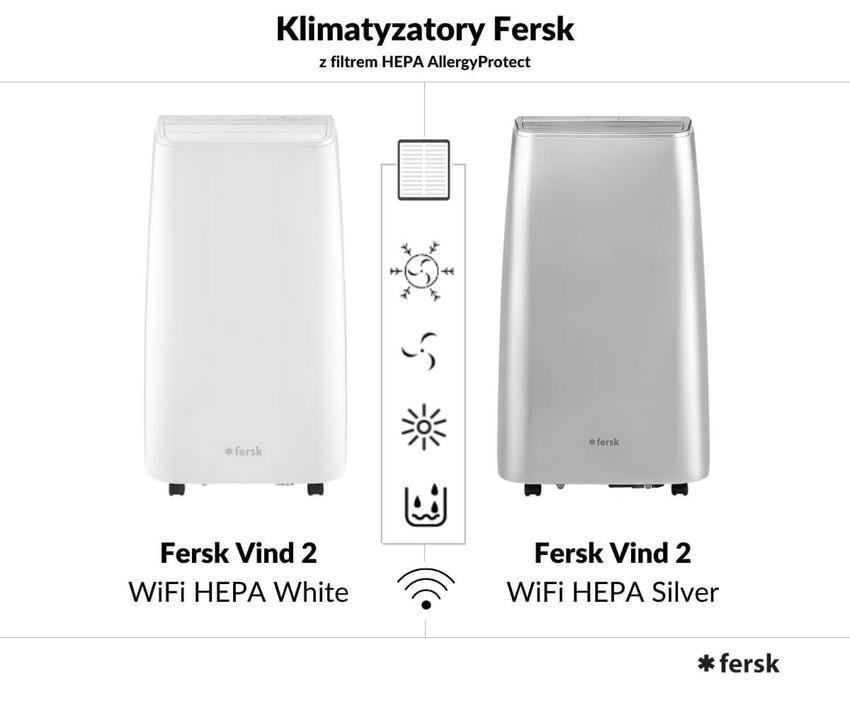 Klimatyzator Fersk Vind 2 WiFi HEPA. Nowy pogromca upałów i…alergenów