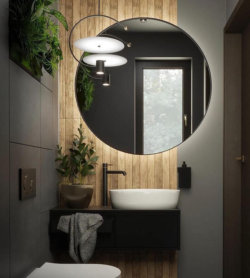 Lustra okrągłe i lustra z oświetleniem – idealne dopełnienie każdego wnętrza