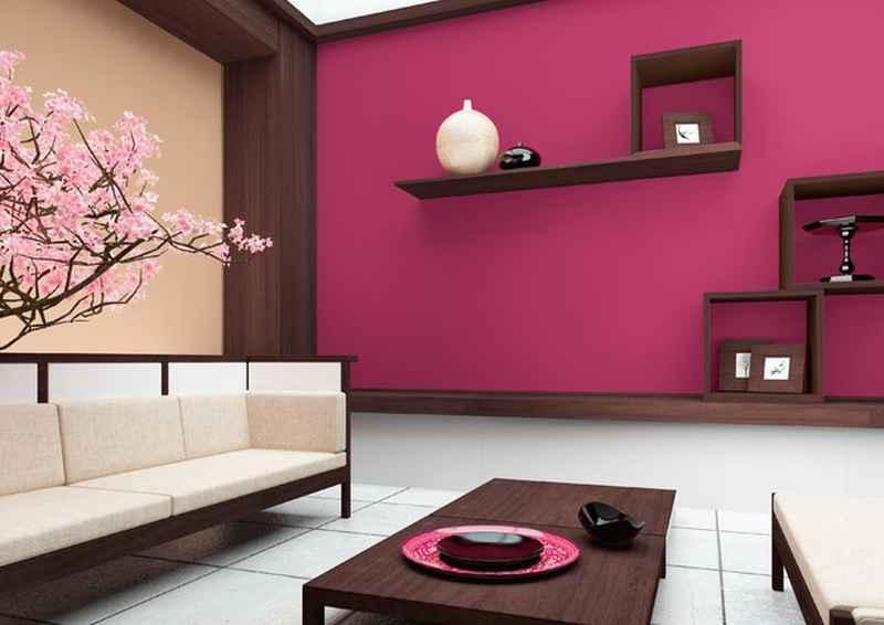 Farba Dekoral w intensywnym różu w salonie, a także kolory, opinie użytkowników do zastosowania, a także ceny