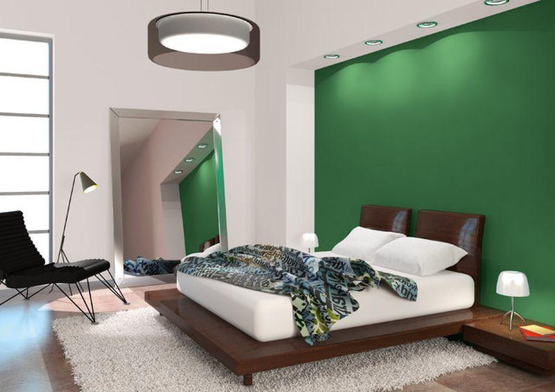 Nowoczesna sypialnia prosto po remoncie, a także ile czasu trwa remont lub wykończenie mieszkania krok po kroku