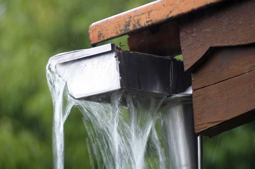 Odprowadzenie deszczówki jest obowiązkiem właściciela posesji. Może być odprowadzona rynnami do podłoża w ogrodzie.