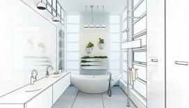 Projekty łazienek - przykładowe aranżacje, wzory, wystrój i pomysły na urządzenie dużej i małej łazienki
