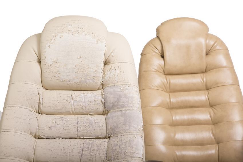 Kompleksowa usługa renowacji foteli. Cena obejmuje wymianę tapicerki i renowację elementów wykonanych z drewna.
