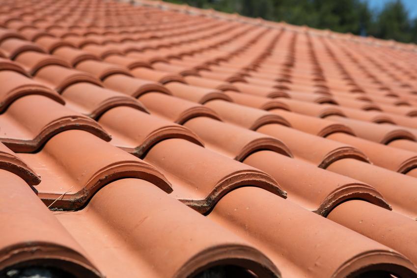Średni koszt zakupu dobrej jakości dachówki cementowej podwójne S. Zużycie około 9,5 dachówki na metr kwadratowy.