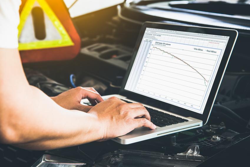 Średni koszt analizy poziomu spalin w samochodzie. Normalny stopień skomplikowania usługi, auto osobowe.